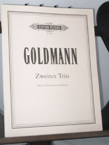 Goldmann F - Second Trio for Oboe Violoncello & Piano
